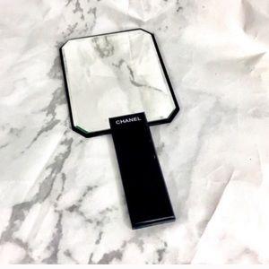 Chanel handheld mirror store display black cc logo